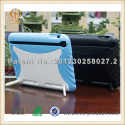 Hot sale product in alibaba hard rubber tablet silicone case for apple ipad with kickstand