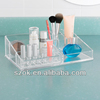 acrylic plastic divided cosmetic&makeup organizer tray wholesale