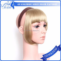 Top synthetic hair fringes hair extensions dubai, remy clip in hair extension bangs, colored synthetic hair extensions
