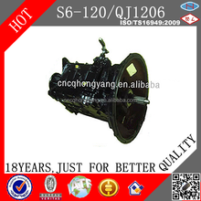 Chinese Hot Sale Bus Transmission QJ1206/S6-120 Gearbox For Bus and Truck