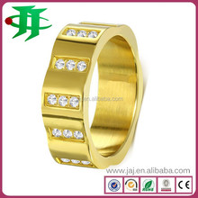 Top quality new Trendy zircon rings 316l Stainless Steel Jewelry