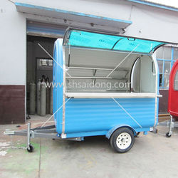 Colored Shanghai lunch cart machine Street Breakfast Service Cart Shop for Sale