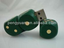 Wooden dice flash memory drive ,Gamble USB galloping dominoes usb , devil's bones usb (PY-U-499)