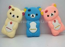 2012 Crazy sale shape silicone rilakkuma phone case cell cover for Iphone 4s