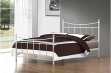 New style bedroom furnitur white/black double iron bed DB-4720
