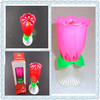 2015 hot selling flower music magic birthday candles