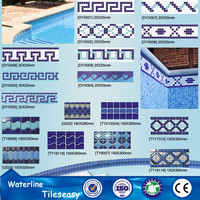 decorative swimming pool ceramic wall tile borders