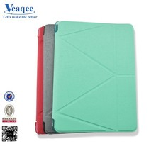 Veaqee simple easy stand soft leather case for ipad 2 3 4 air