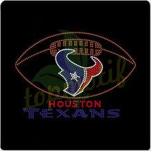 Futebol com texano logotipo da equipe t- camisa desenhos strass