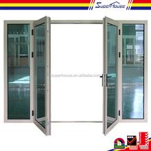 superhouse 10years warranty leaded glass french doors