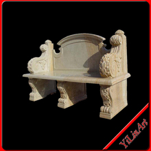 2013 new product long yellow marble outdoor garden bench for sale,stone outdoor bench,garden marble bench YL-S063