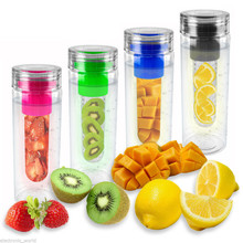 special design fruit infusion water bottle, food grade fruit infuser water bottle