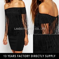 Sleeveless Tassels Front Latest Dress Design for Ladies without dress sexy girls photo