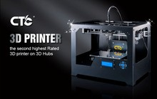 CTC METAL 3D PRINTER DOUBLE NOZZLE PRINTING SIZE 225*145 *150 mm China Suppliers 3D Printing Machine For Sale