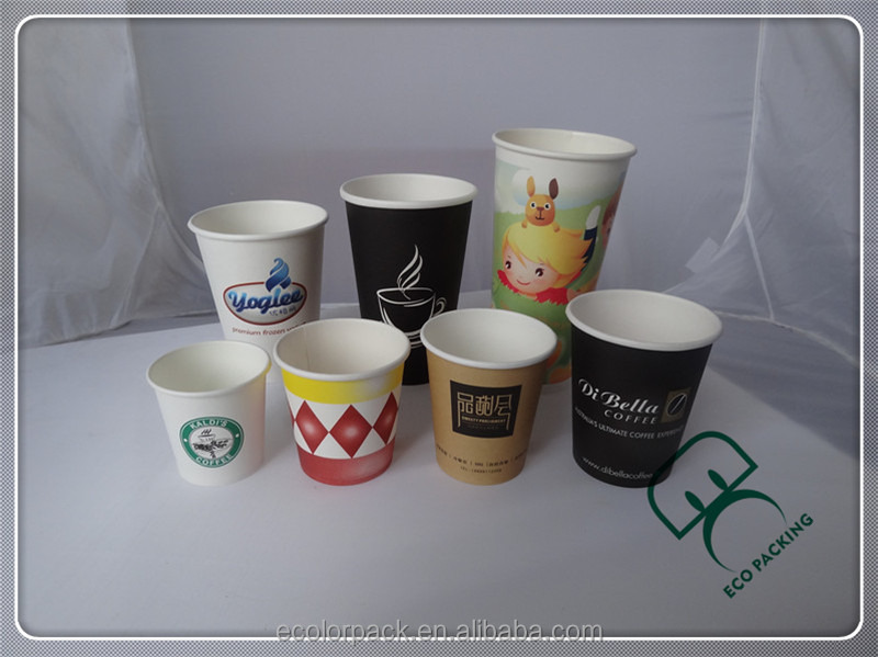 Best quality custom logo printed disposable paper coffee cup