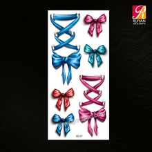 Colorful Bow 3D Temporary Tattoo Supplies 3D-07
