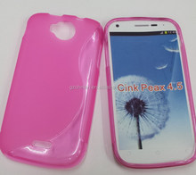 TPU Gel Crystal Soft Case Cover for Wiko Cink Peax 4.5