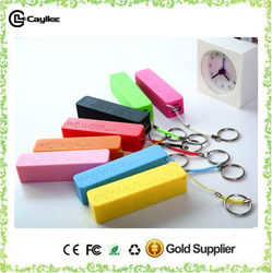 Made in China wholesale 2000mah to 2600mah Perfume portable power bank with keychain