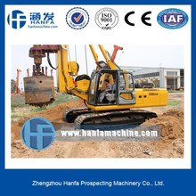 HF168A hydraulic rotary pile driver for foundation construction CE & ISO certification max piling depth 56m