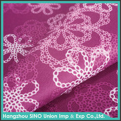 2015 newest printed waterproof blackout polyester PU coated oxford fabric curtain wholesale