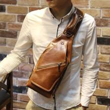 Fashion Men Faux Leather Messenger Shoulder Chest Pack Cross body Bag