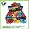 Flash peg-top toy mini bird set children cartoon laser spinning top