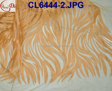 Lady dress banquet party french net lace for blouse CL6444-2 orange