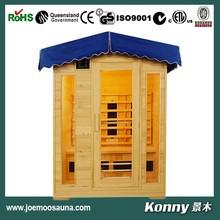 2015 KL-4LOG new outdoor wood far infrared sauna room