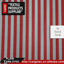 100% Cotton 40s Yarn Dyed Plain Fabric In Stock Item Shirting Cloth