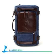 New style men shoulder bag large capacity canvas single shoulder backpack leather bag