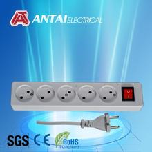 france type power strip,16a extension lead with switch