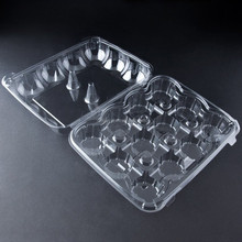 12 Compartment Hinged High Dome Clear Cupcake Containers packaging