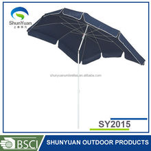 2*1.5m Zinc Alloy outdoor beach umbrella high quality hot sell cheap folding promotional umbrella