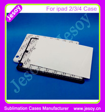 JESOY High Quality Sublimation 2D Blank Case For ipad 2/3/4 Case, Blank Phone Cases For Sublimation Printing