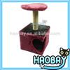New design pet products cat house faux fur materials cat condos
