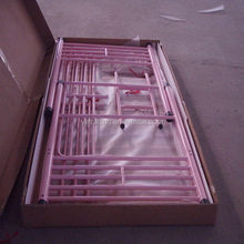 Durable top sell commercial beautiful pink metal bunk bed