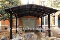 Guangzhou anti abrasion aluminum carport canopy, plastic material polycarbonate car garage