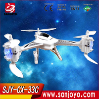 2015 CX-33C Tricopter professional version Drone with hd camera remote control one-key to landing for sales