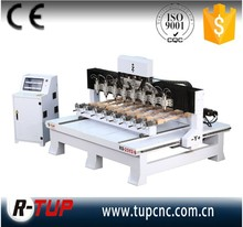 Multi spindle and multi rotary cnc router for engraving and carving