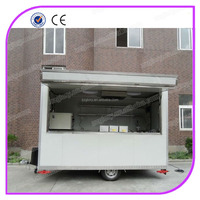 Light Pink Outdoor Churro Mobile Kitchen Bakery Food Cart Trailer For Sale