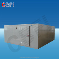 Industrial cold room for seafood, fish, meat, beef