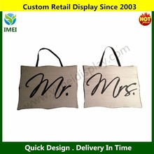 Mr and Mrs Wedding Photo Props, Decor Chair Party Sign Signs Booth Decoration 8X10CM YM3-147