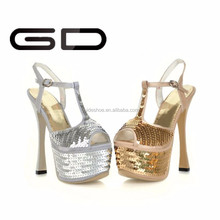 spike high heel shoes glitter shoes wholesale stiletto shoes hot gold women heels and pumps