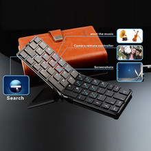 Ultra Mini Foldable Bluetooth Keyboard For Tablet Pc Mobile Phone
