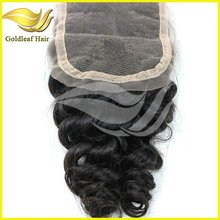 5A top grade best selling new style real human hair peruvian hair lace closure