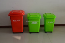 plastic material 30L 45L 60L trash can waste can wheelie can baby toys storage bin dustbin with wheels container bin box