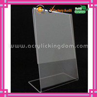fashion slant back custom clear tabletop acrylic sign holders 8.5 x 11 manufacturer