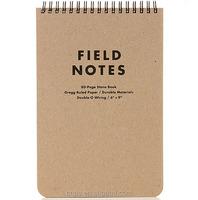 field notes kraft chipboard top spiral notebooks