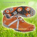 Goma de moda MD suelas hechos a mano zapatos de golf mujeres, mens coloridos zapatos de golf de spike para adultos de negocios