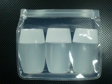 Clear EVA Material Plastik Travel Set Packing Bags EAV Zipper Stand-up Pouch